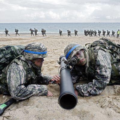 Etelä Korea sotaharjoitus.