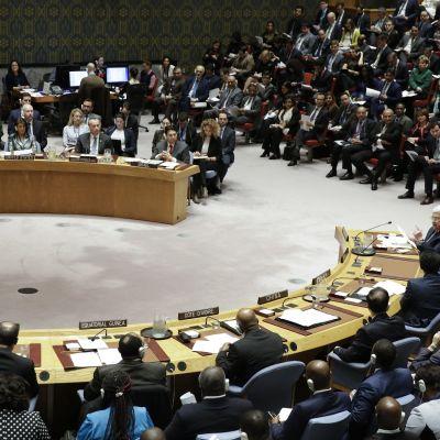 YK:n turvallisuusneuvoston kokous 20. helmikuuta 2018.
