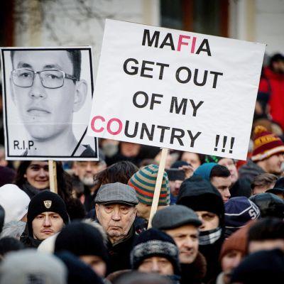 Mielenosoitus Slovakian Bratislavassa.