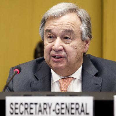 YK:n pääsihteeri Antonio Guterres Genevessä.
