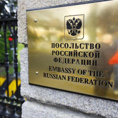 Venäjän lähetystö Dublinissa.