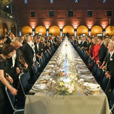 Nobel-juhla Tukholman kaupungintalossa.