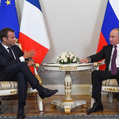 Venäjän ja Ranskan presidenttien tapaamisessa esillä olivat muun muassa Iranin ja Ukrainan tilanne.