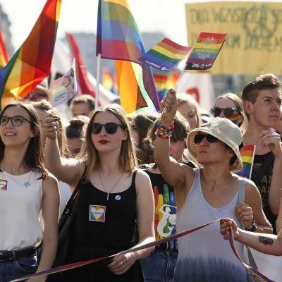 Pride-kulkue Varsovassa