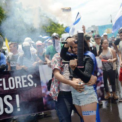 Mielenosoitus Nicaraguan Managuassa.