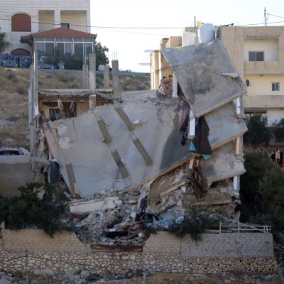 Romahtanut talo Jordaniassa