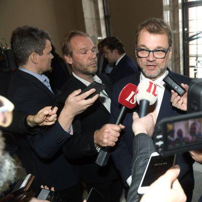 Pääministeri Juha Sipilä eduskunnan täysistunnossa Helsingissä 17. lokakuuta