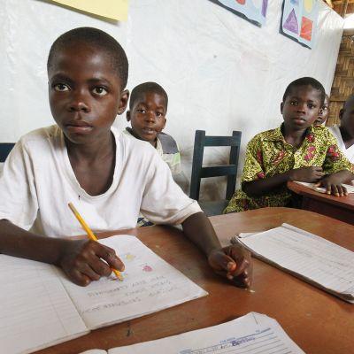 Koululaisia Liberiassa