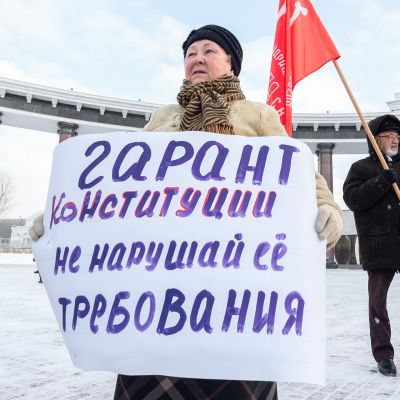 Venäjän ja Japanin välisten neuvotteluiden vastustajia