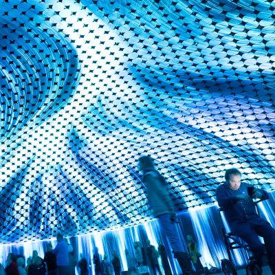 Amos Rexissä teamLabin näyttely