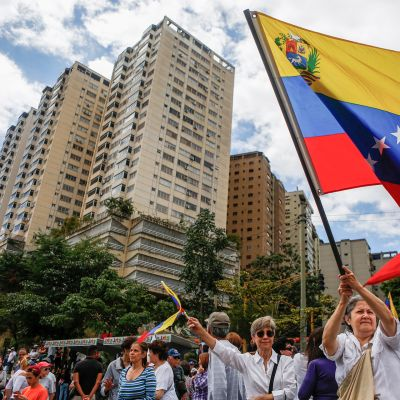 Hallituksen vastainen mielenosoitus Caracasissa.