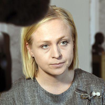 Kokoomuksen kansanedustaja Elina Lepomäki eduskunnassa Helsingissä 29. tammikuuta