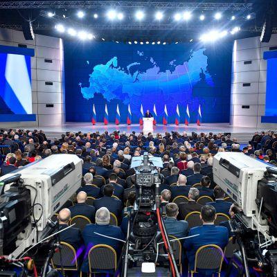 Putin piti vuosittaisen puheensa 20.  helmikuuta.