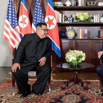 Kim Jong Un ja Donald Trump.