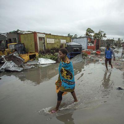 Sykloni Idain aiheuttamia tuhoja Sofalan alueella Mosambikin keskiosassa.