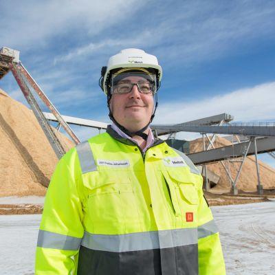 Polar King -biotuotetehtaan projektinjohtaja Jari-Pekka Johansson.