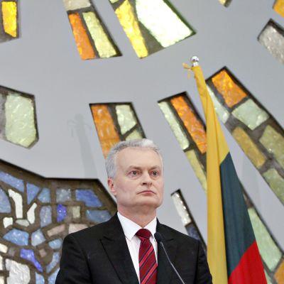 Liettuan presidentti Gitanas Nauseda.