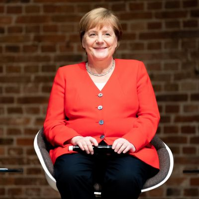 Saksan liittokansleri Angela Merkel puhui kehitysapua koskevassa tilaisuudessa 12. heinäkuuta.
