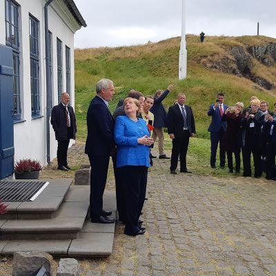 Antti Rinne  ja Angela Merkel
