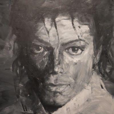 Yan Pei Ming, In Memory of Michael Jackson