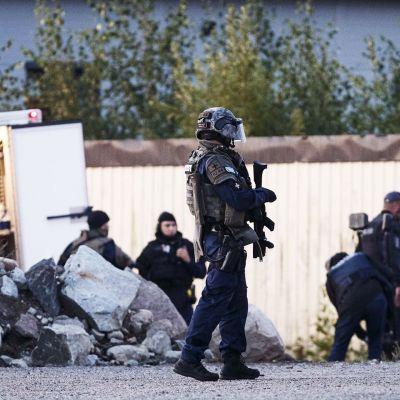 Poliisioperaatio Porvoossa sunnuntaina 25. elokuuta.