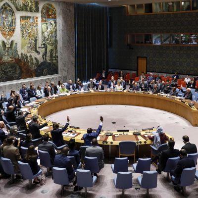 YK:n turvallisuusneuvoston kokous.