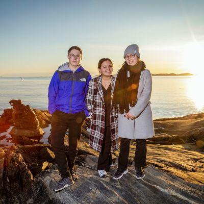 Nick Thorleifsen, Kiki Godtfredsen ja Sascha Blidorf.
