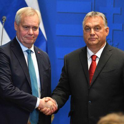 Pääministerit Antti Rinne ja Viktor Orbán tapasivat maanantaina Budapestissa.