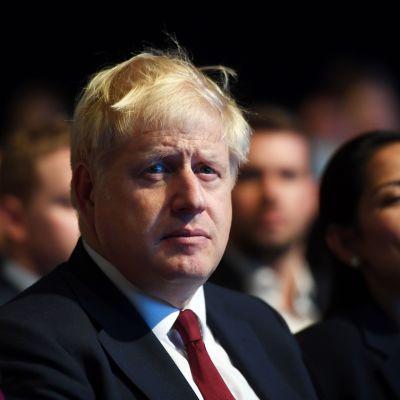 Britannian pääministeri Boris Johnson konservatiivien puoluekokouksessa 30.9.2019.