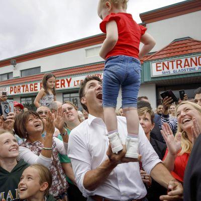 Justin Trudeaun vaalikampanja.