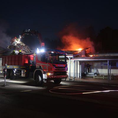 Lepsämän koulun palo