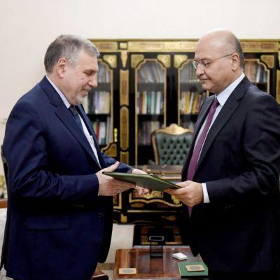 Kuvassa Irakin pääministeri Mohammad Allawi ja presidentti Barham Salih.