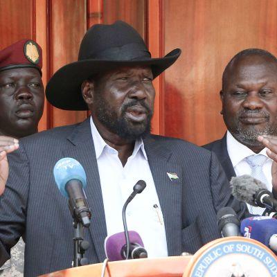 Salva Kiir ja Riek Machar