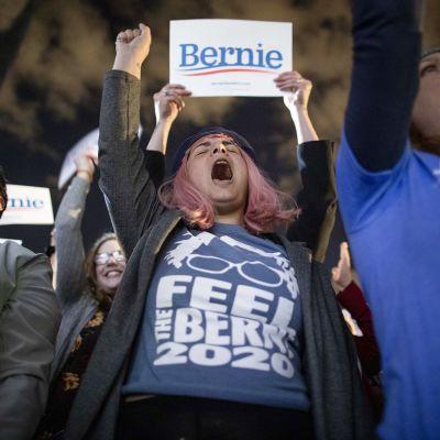 Bernie Sandersins kannattajia.