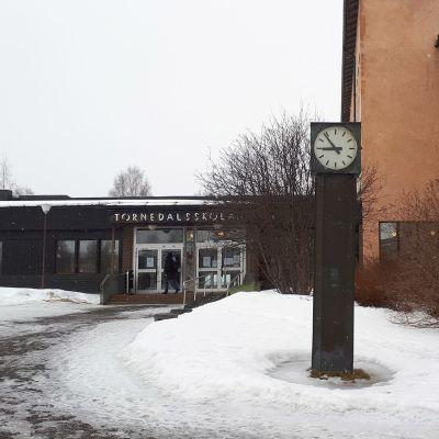 Haaparannan lukio Tornedalsskolan.
