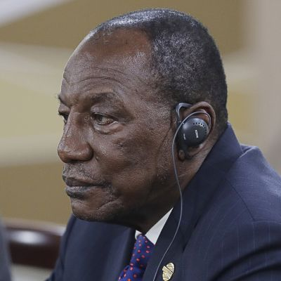 Guinean presidentti Alpha Condé.