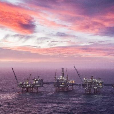 Norjalainen öljynporauslautta Pohjanmerellä.