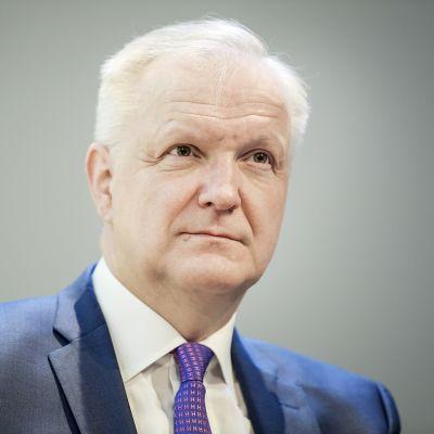 Suomen Pankin maksufoorumi Finlandia talossa. Kuvassa johtokunnan varapuheenjohtaja Olli Rehn