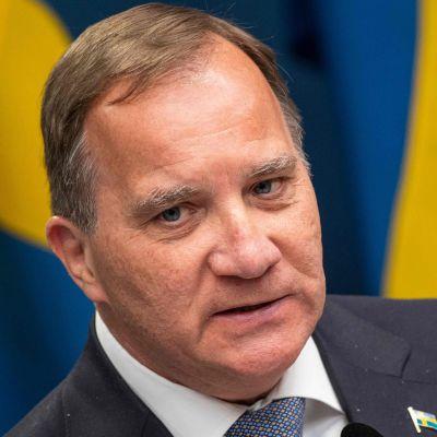 Ruotsin pääministeri Stefan Löfven lehdistötilaisuudessa Tukholmassa toukokuun 29. päivä.