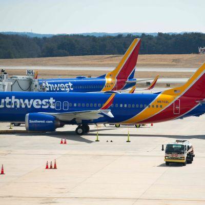 Boeing 737 MAx 8 -koneita Baltimoren kansainvälisellä lentoasemalla.