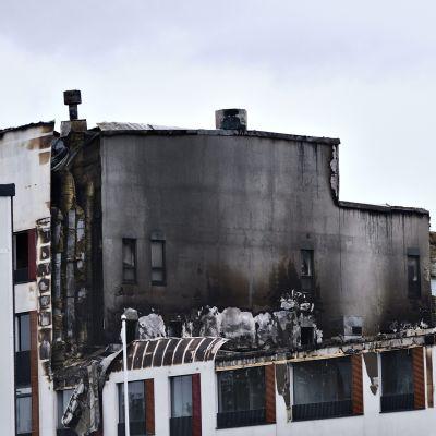 Tulipalon vaurioittama seniorikortteli Jyväskylässä 11. heinäkuuta 2020.