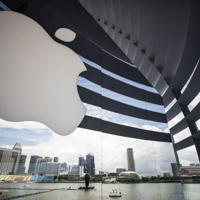 Uusi Apple store Singaporessa 8. syyskuuta.