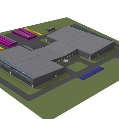 Havainnekuva Seinäjoelle rakennettavasta datakeskuksesta