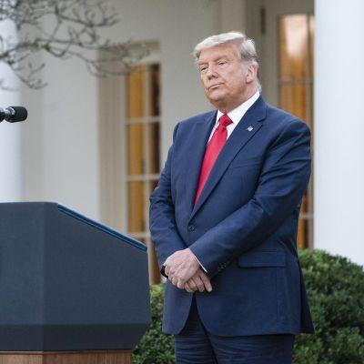 Yhdysvaltain istuva presidentti Donald Trump puhui lehdistötilaisuudessa ensimmäistä kertaa demokraatti Joe Bidenin vaalimenestyksen jälkeen.