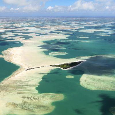 Ilmakuva Motu Tabun saariryhmästä Kiribatissa.