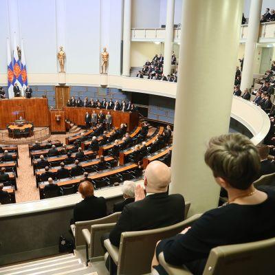 Valtiopäivien avajaiset 2020 eduskunnassa.