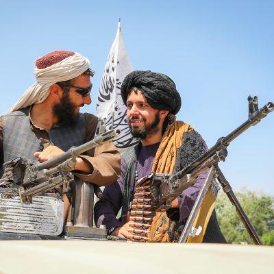 Taliban-taistelijoita Kabulissa 16. elokuuta.