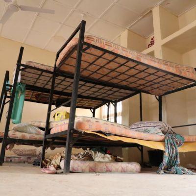 Oppilaiden asuntola tyhjillään Jangedessa Nigeriassa.