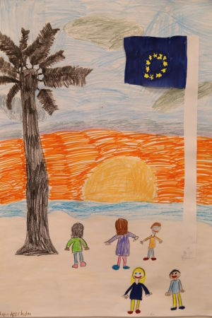 Maya Åkerholms Europa-teckning.