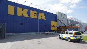 Ikea i Västerås efter knivhuggningen den 10 augusti 2015.
